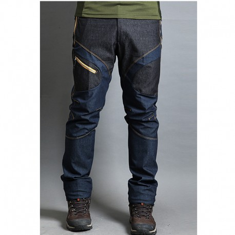 чоловічі похідні штани джинсові змішати синій