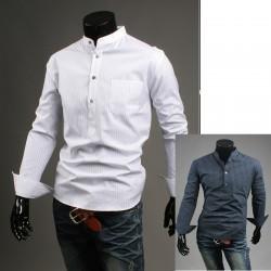 Kina krage enkel linje shirts