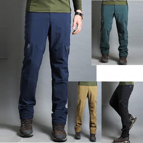 mannen wandelschoenen broek overspannen basiskleur