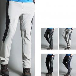 pánské turistické kalhoty z vnitřní strany na zip
