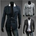 men's blazer 2 button red stitch holl