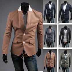 blazer 2 λευκό κουμπί ανδρών
