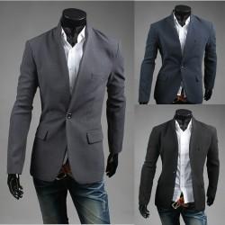 blazer 1 κουμπί απλό ανδρών