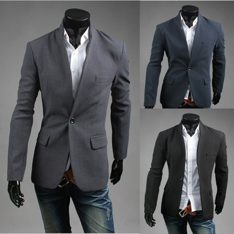 men's blazer 1 button simple