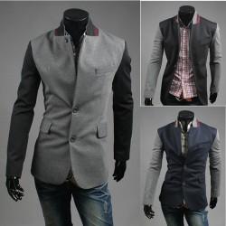 blazer μανίκι χρώματος μείγμα ανδρών