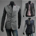 men's blazer color mix sleeve