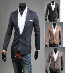 blazer των ανδρών tr βασικό σακάκι 1 κουμπί