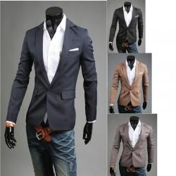 pánska Blazer tr základné 1 Tlačidlo bunda