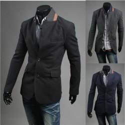 giacca bavero del cappotto arancione uomini
