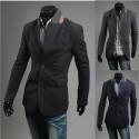 mænds blazer appelsin krave frakke