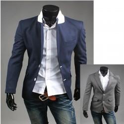 чоловічий піджак білий стібок кнопка Holl