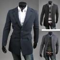 mænds uld lang overfrakke