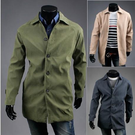 Herren-Graben Mantel beige