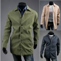 men's trench overcoat beige