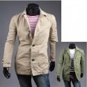 collare cappotto denim trincea degli uomini