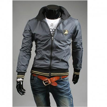 giacca a vento da uomo lamborghini linea del collo