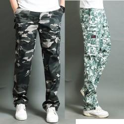 περιστασιακή στρατό φορτίου παντελόνι διπλή τσέπη για άνδρες