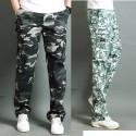 casuale esercito cargo doppia tasca di pantaloni da uomo