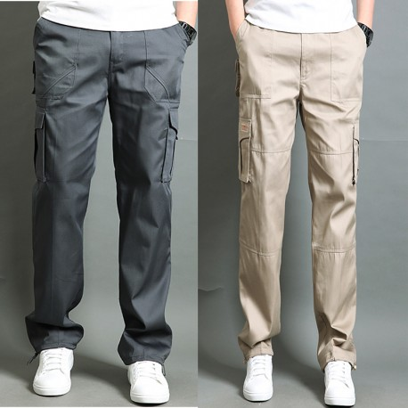 men's casual army cargo cooling rubber tail edge pant's