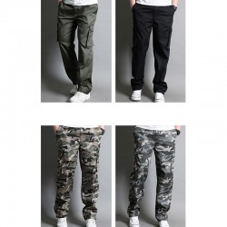 men's casual military cargo double wallet pocket pant's