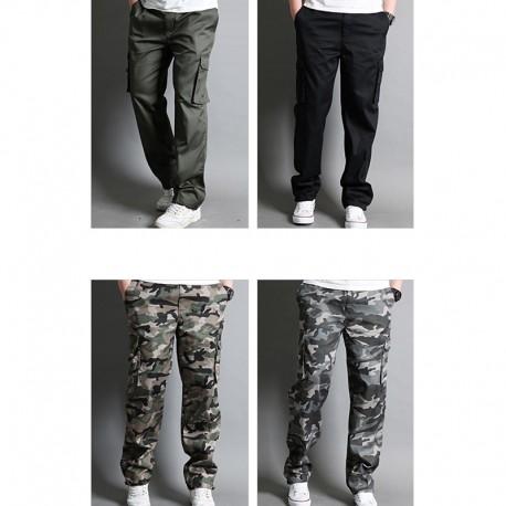 mænds afslappet militær last dobbelt tegnebog pocket bukser s