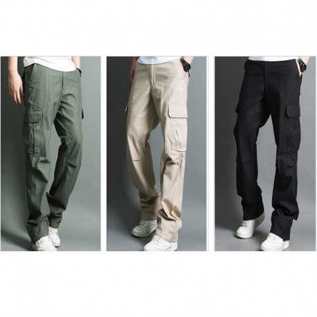 men's casual army cargo cooling rope waist pant's