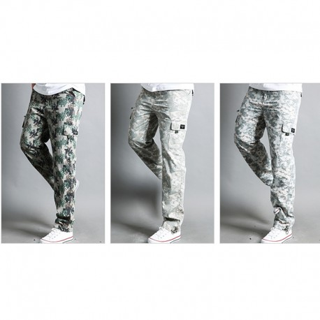 men's casual digital military cargo cooling camouflage pant's