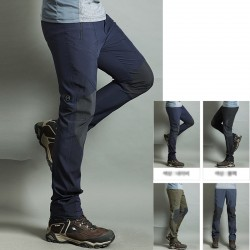 męskie spodnie na piesze wędrówki ostygnięcia stałe kolana wyściełane spodnie