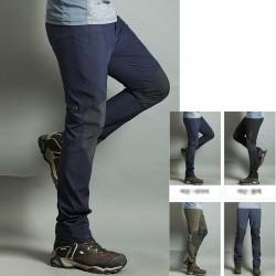 pantaloni da trekking uomini raffreddano ginocchio solido pantaloni imbottiti