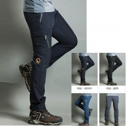 men's hiking pants cool buffalo round patch trousers