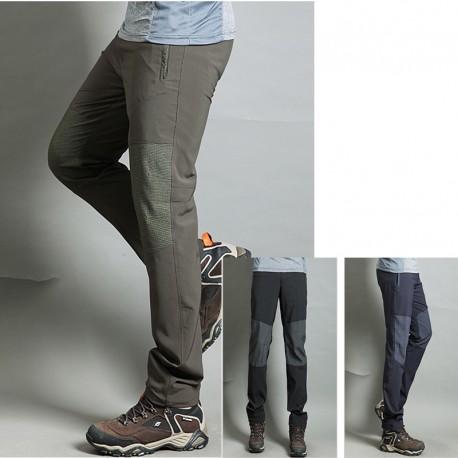 pantaloni da trekking uomini raffreddano i pantaloni al ginocchio di lino