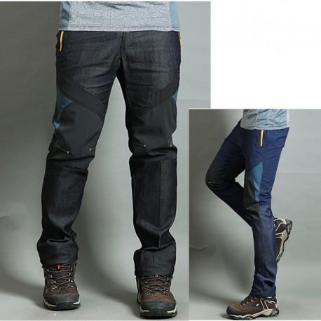vīriešu pārgājienu bikses džinsa sajauc cietu dzeltenās bikses