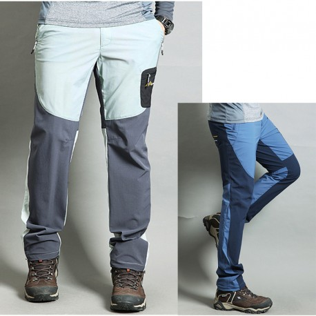 Herren-Wanderhose kühlen Pastellfarben feste Hose