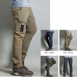 Mężczyźni wędrówki Pant cool rzep kieszeń cargo spodni użytkownika