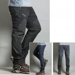 Herren-Wanderhose kühlen diagonalen Reißverschluss der Hose