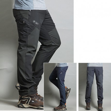 men's hiking pant's cool diagonal zipper trouser's