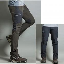 pánska hikingové nohavice v pohode jedinej sivá vrecko nohavíc je