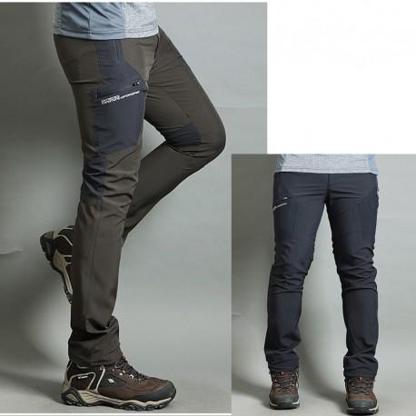 mannen wandelschoenen broek koele enkele grijze zak broek's
