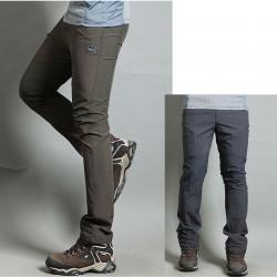 erkekler yürüyüş pantolon serin katı tek fermuar pantolon en