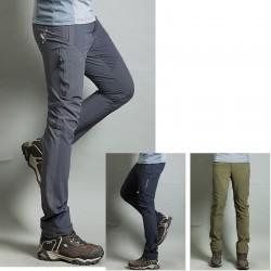 chladný riadok skrytý zips nohavíc mužov pešieho výletu Pant