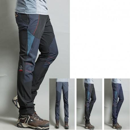 pánska hikingové nohavice v pohode červená čiara trojuholník pevné nohavíc je