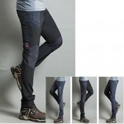 erkekler yürüyüş pantolon serin kömür streç katı pantolon en