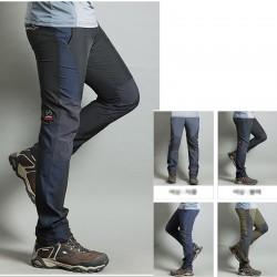 erkekler yürüyüş pantolon serin tarafı katı uyluk pantolon en
