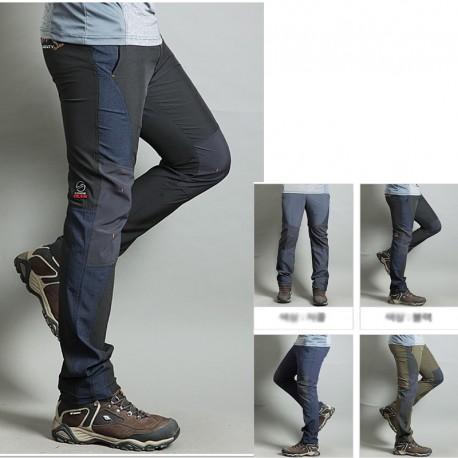 pánska hikingové nohavice v pohode strana pevné stehná nohavicové je