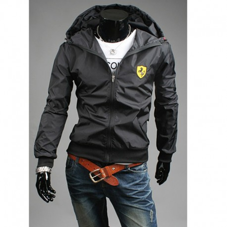 ferrari hoodie men's windbreaker jacket