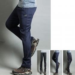 erkekler yürüyüş pantolon serin lastik bant eğitim pantolon en
