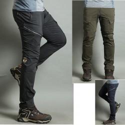 erkekler yürüyüş pantolon serin kargo fermuar çift pantolon en
