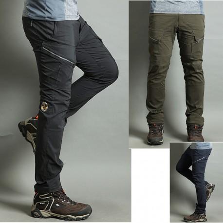 pánská Hikingové kalhoty v pohodě nákladní zip u kalhot je double