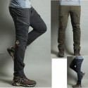 men's hiking pant's cool cargo zipper double trouser's