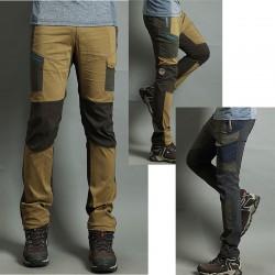 pánska hikingové nohavice v pohode nákladné nevyváženosť vrecka nohavíc je